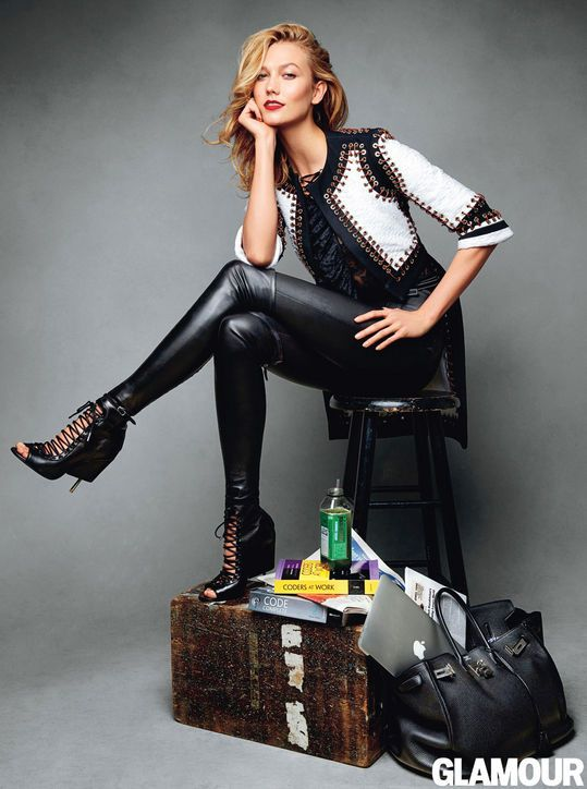 New Year New Look 8 Trends To Try In 2015 Karlie Kloss Leather Pants And Spring 2015 Fashion