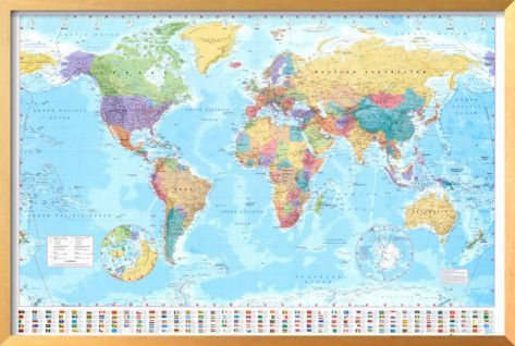 World map map frame kids study and study areas world map gumiabroncs Gallery