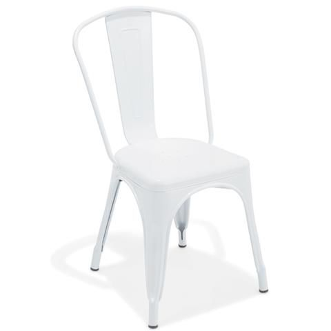 Superb White Metal Chair Kmart 35 White Metal Chairs Metal Caraccident5 Cool Chair Designs And Ideas Caraccident5Info