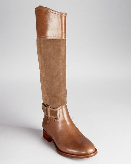 Tory Burch Riding Boots Tenley in Brown (asphalt brown) - Lyst