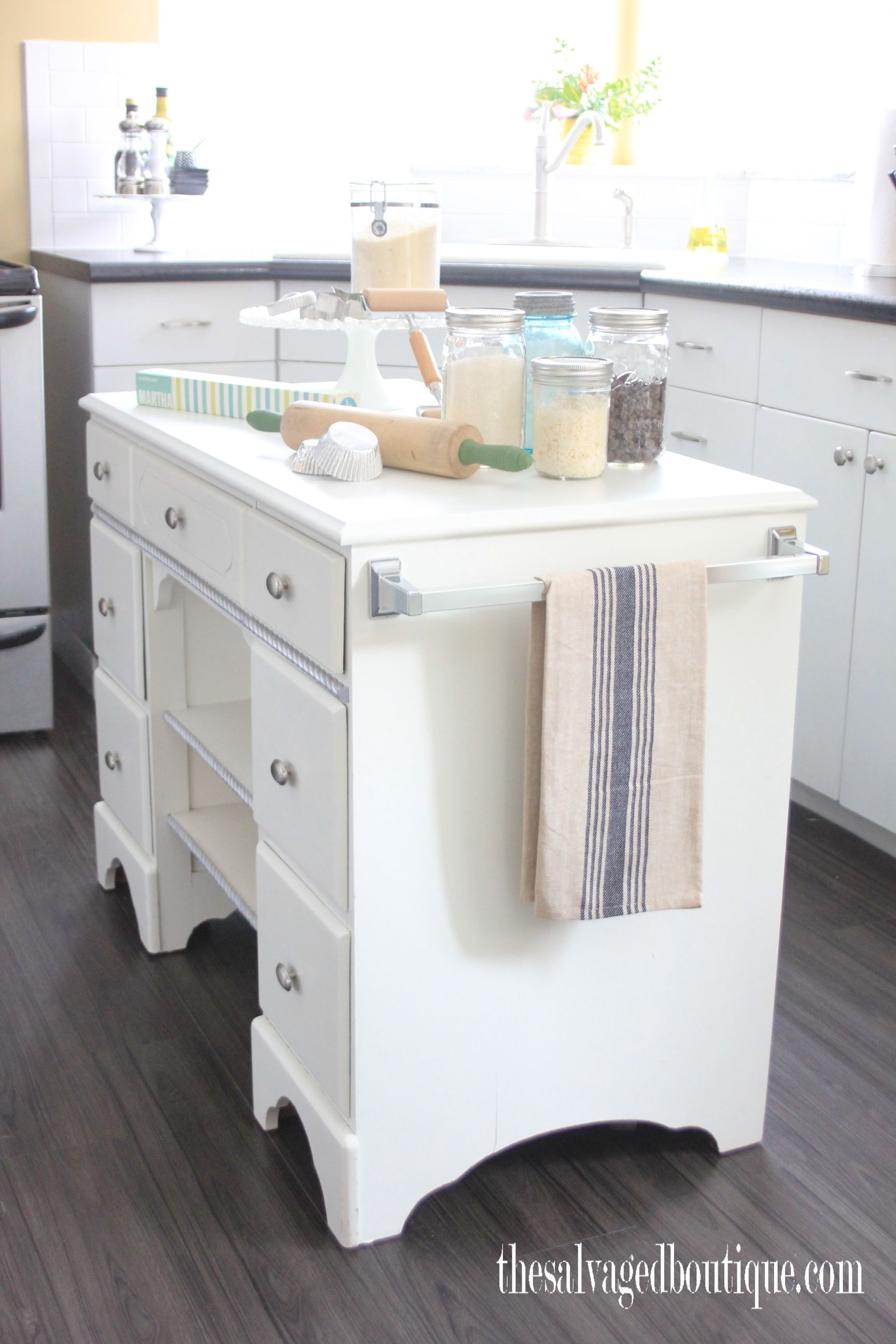 The salvaged boutique upcycles another vintage desk to create a