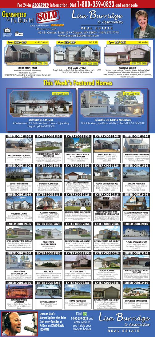 Full Page Newspaper Ad for Wyoming Realtor Real estate