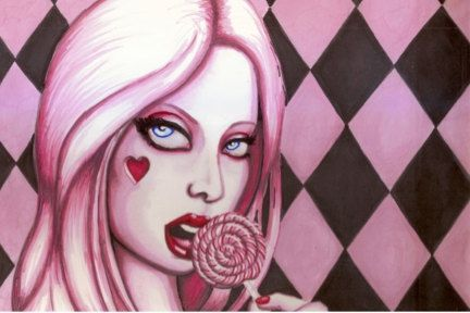 Pink Lolita Lollipop 8x12 photo print by ShayneoftheDead on Etsy, $12.00