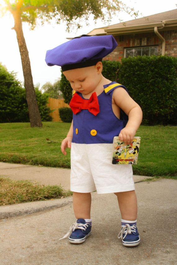 Donald Duck Costume Disney Outfit Boys Shorts Disney Onesie Donald Duck Jon Jon Boys Onesie
