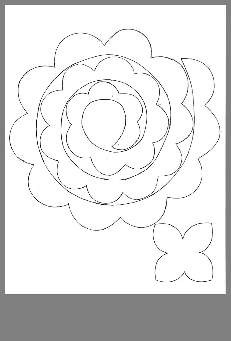 It's just a picture of Lively Felt Flower Template Printable