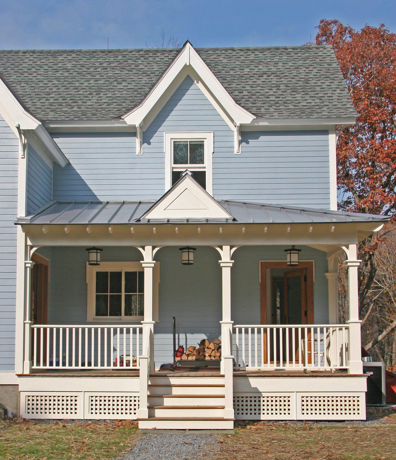 farmhouse porch Porches and Patios House with porch