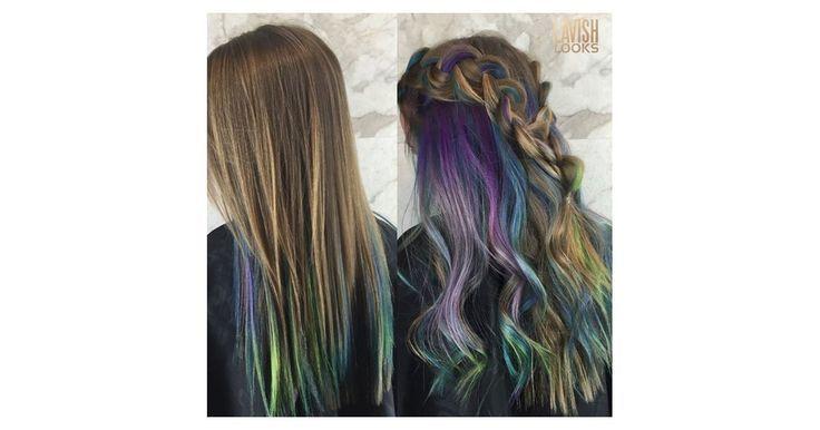 Unterlicht Haarfarbe Trend | POPSUGAR Schönheit  #haarfarbe #popsugar #schonheit #trend #unterlicht