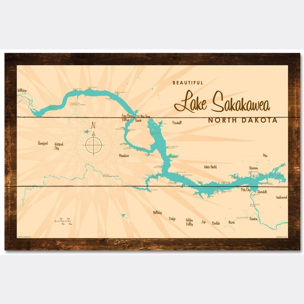Lake Sakakawea North Dakota, Rustic Wood Sign Map Art ... on dodge north dakota school, dodge steele county map, dodge texas map, dodge nebraska map,