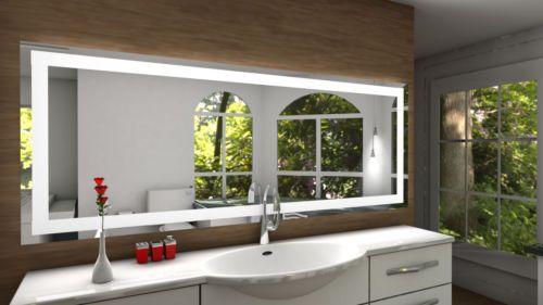Details zu Badspiegel Toulon mit LED Beleuchtung Badezimmerspiegel ...
