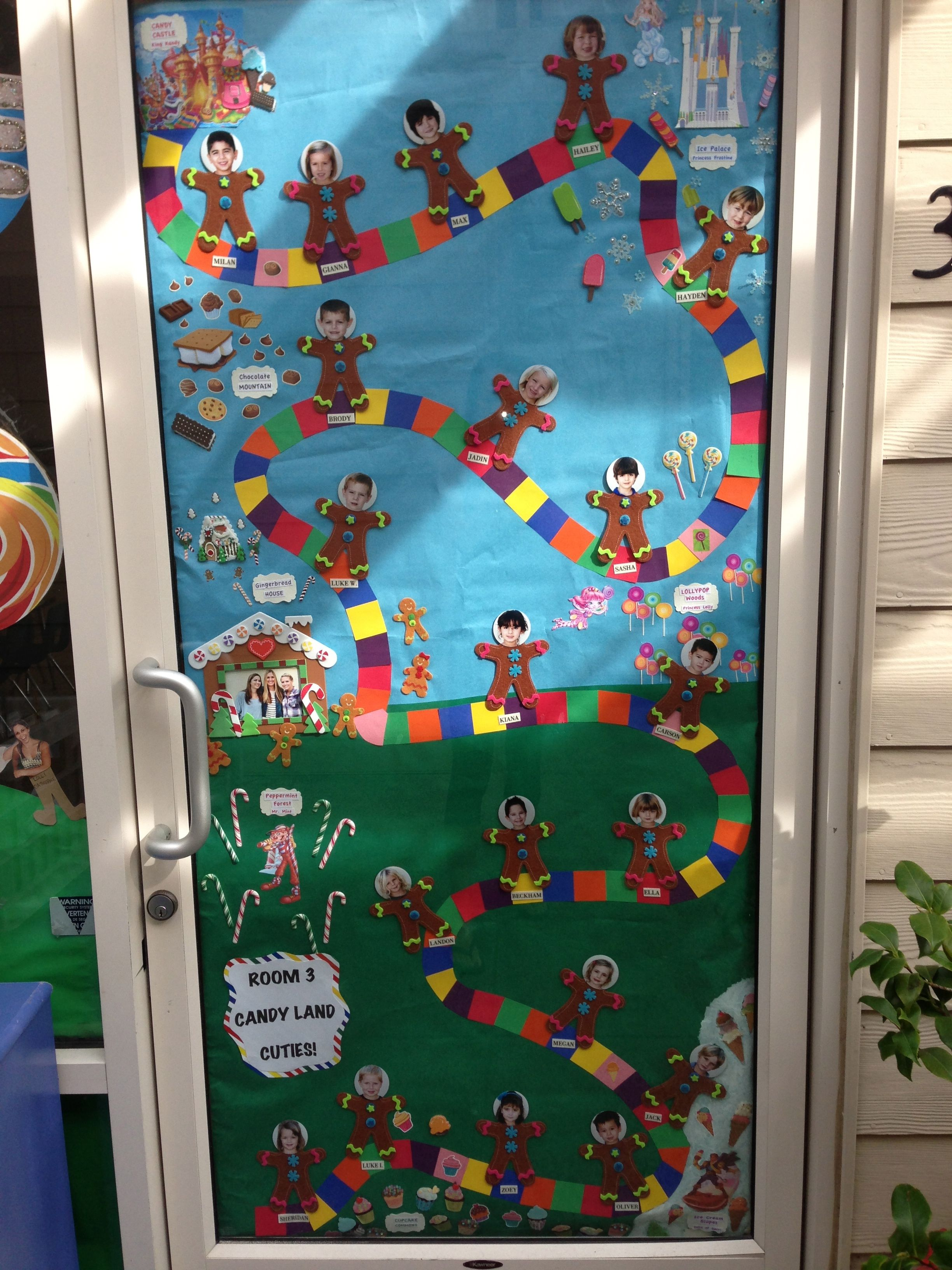 candy land door room 3 - Candyland Christmas Door Decorations