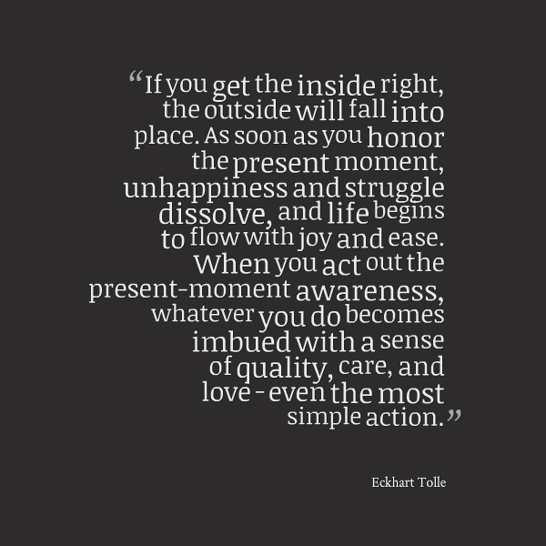 Eckhart Tolle Quote Present Moment Awareness Discovering