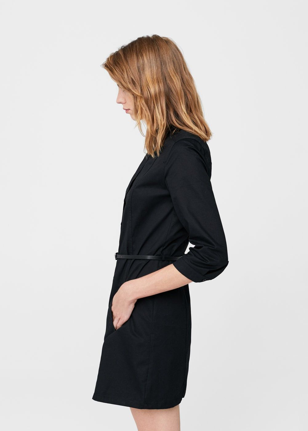 Robes Belt Cotton Noir Et Woman Pinterest Dress 7w1wxgpqZ dec36e387c4
