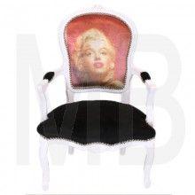 Barok Fauteuil Wit.Barok Stoel Wit Marilyn Monroe Eettafels En Stoelen Bar Krukken