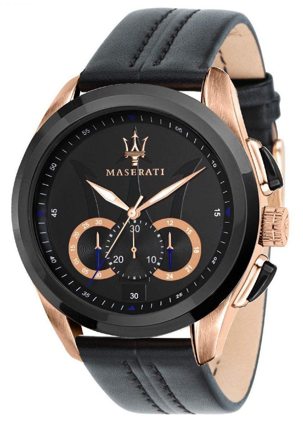 Maserati Traguardo Chronograph Quartz R8871612025 Mens Watch Black Vintage Watches For Men Watches For Men Fashion Watches