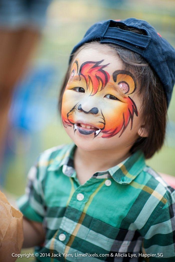 1001  ideen für kinderschminken für halloween  löwe