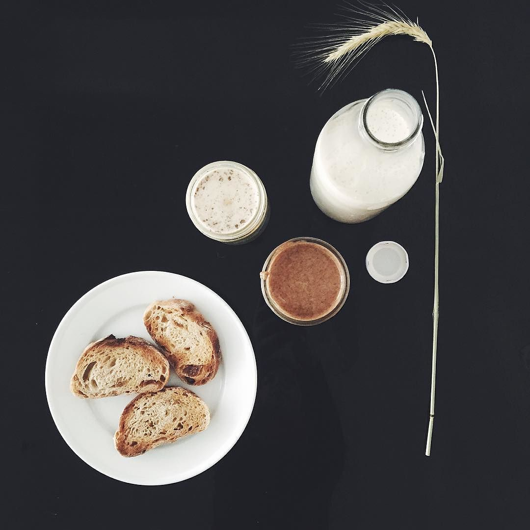 Spending the morning cooking the little things from the larder section of the cook book; Cardamom Almond Butter and Oat Milk served with honey and some slices of fig and walnut bread . The book is now available for pre order. Link in bio! by 26grains