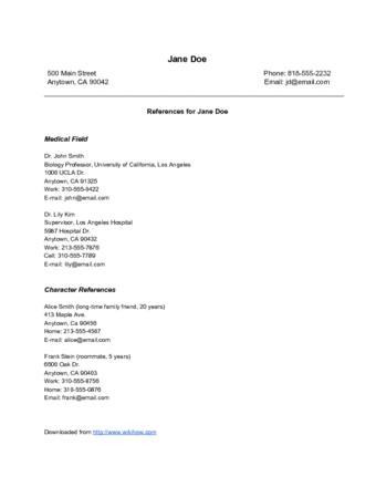 References On Resume Format Format References Resume Resumeformat Resume References Reference Page For Resume Resume Examples