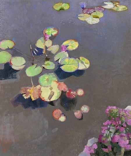 John Evans New Orleans Aquatic Garden Pool 2011 Art Paintings