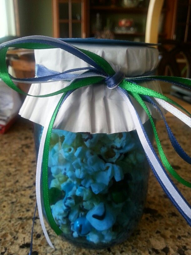 Popcorn gift from baby shower