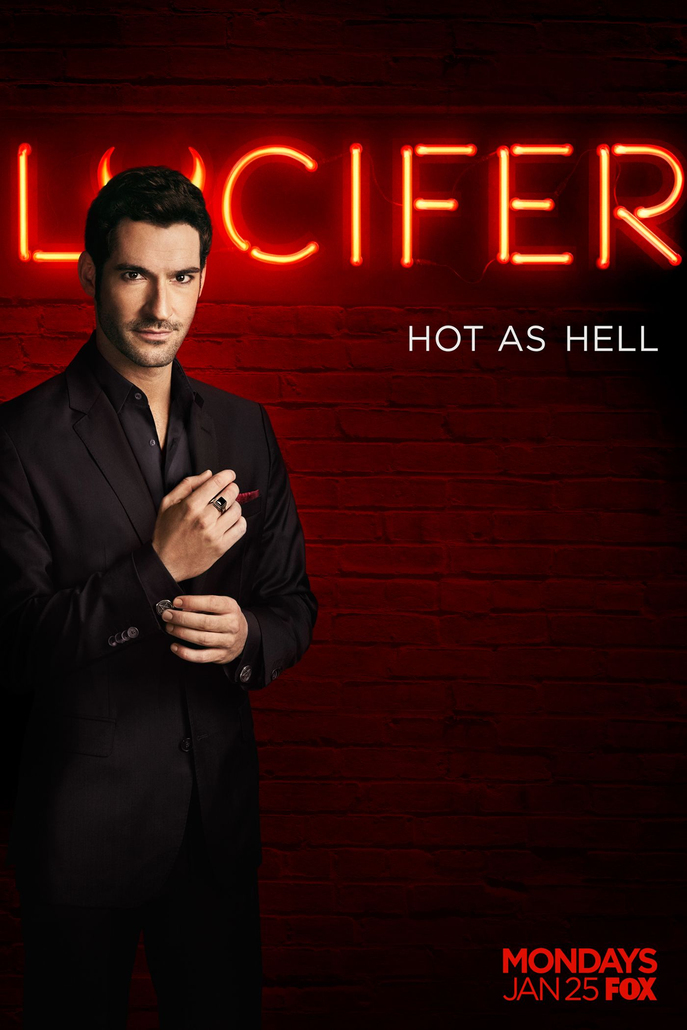 Lucifer S1 Promotional Poster Lucifer Lucifer Morningstar Tom