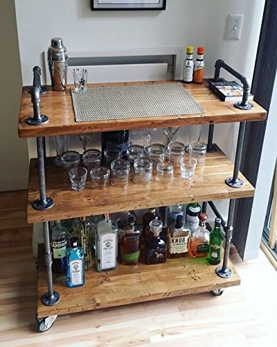 Amazon Com Wgx Design For You Wood And Metal Wine Rack With Wheels Kicthen Bar Dining Room Tea Wine Holder Serving C With Images Bar Cart Decor Diy Bar Cart