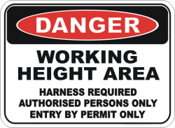 No Entry Authorised Persons Only Safety Sign oh/&s Work Decal
