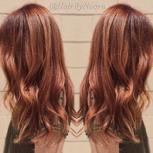 auburn hair with red highlights red hair auburn hair