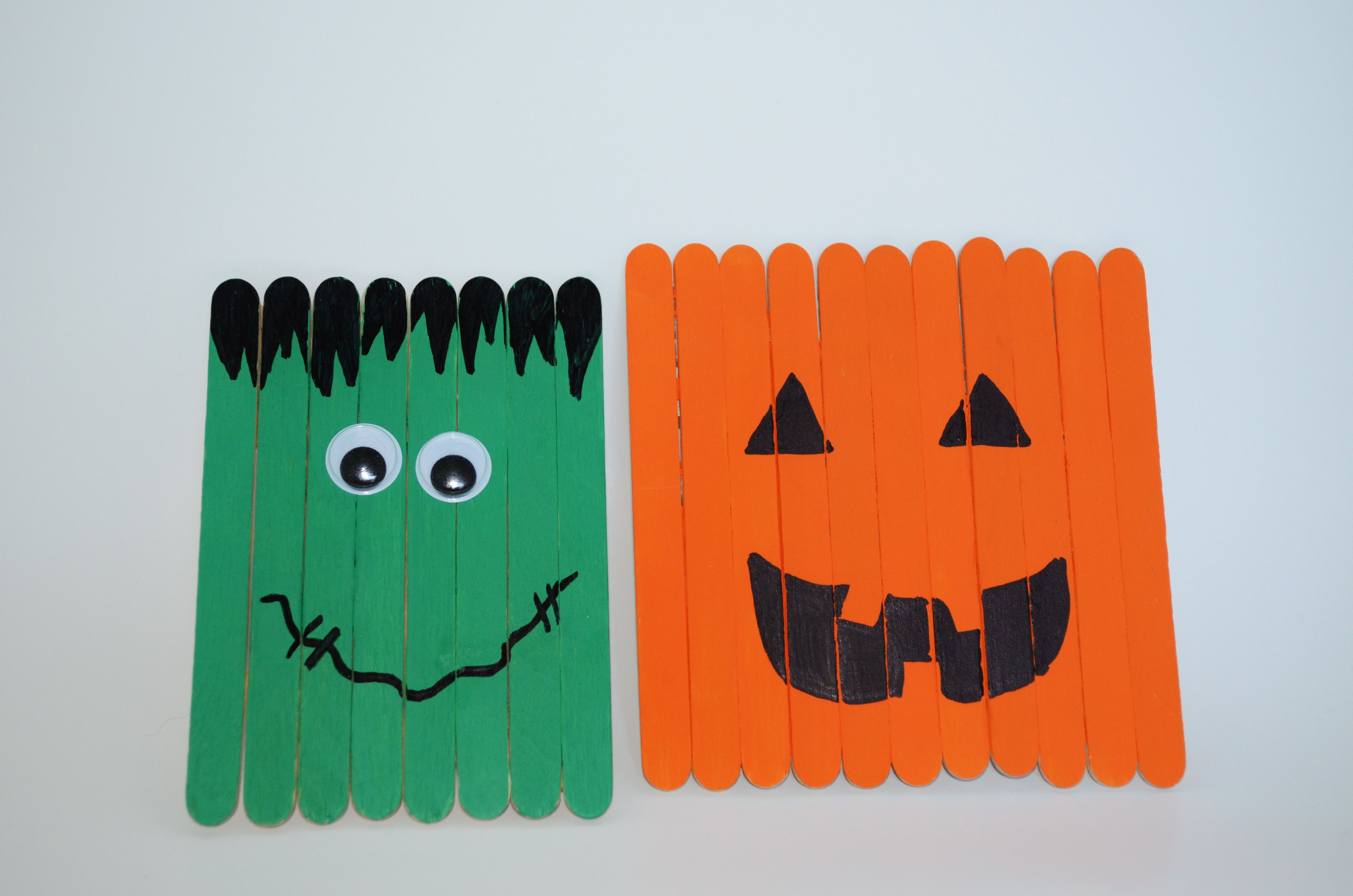 How To Make How To Make Halloween Decor Kid S Popsicle Stick