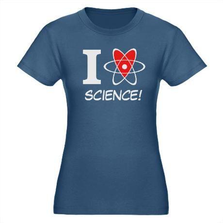i heart science Organic Women's Fitted T-Shirt (da