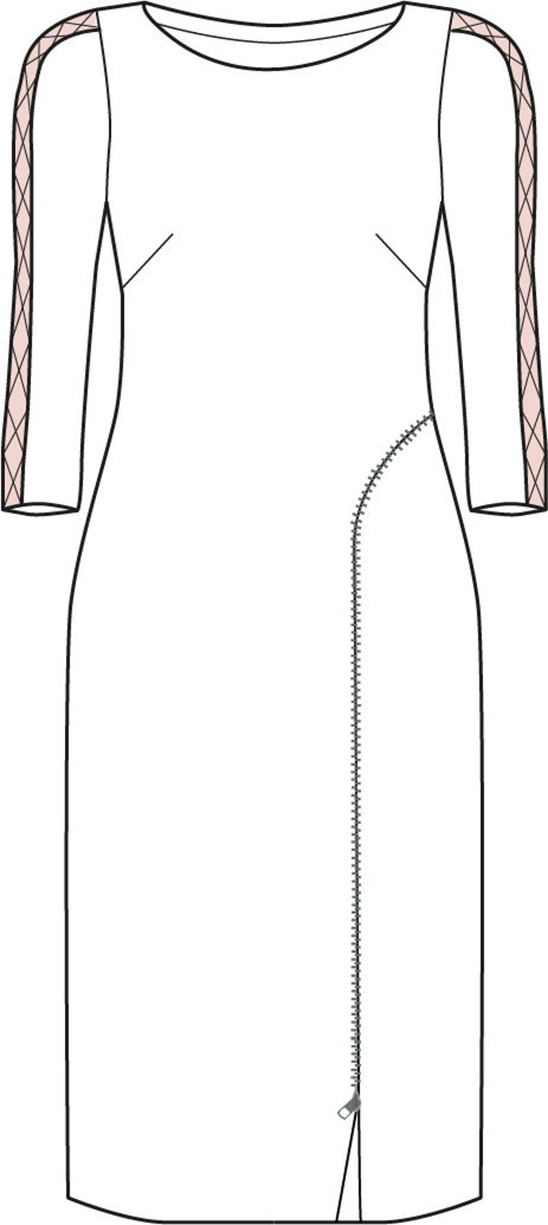 Kleid Sarana Gr. 17-17 PDF-Schnittmuster A17, A17, Anleitung