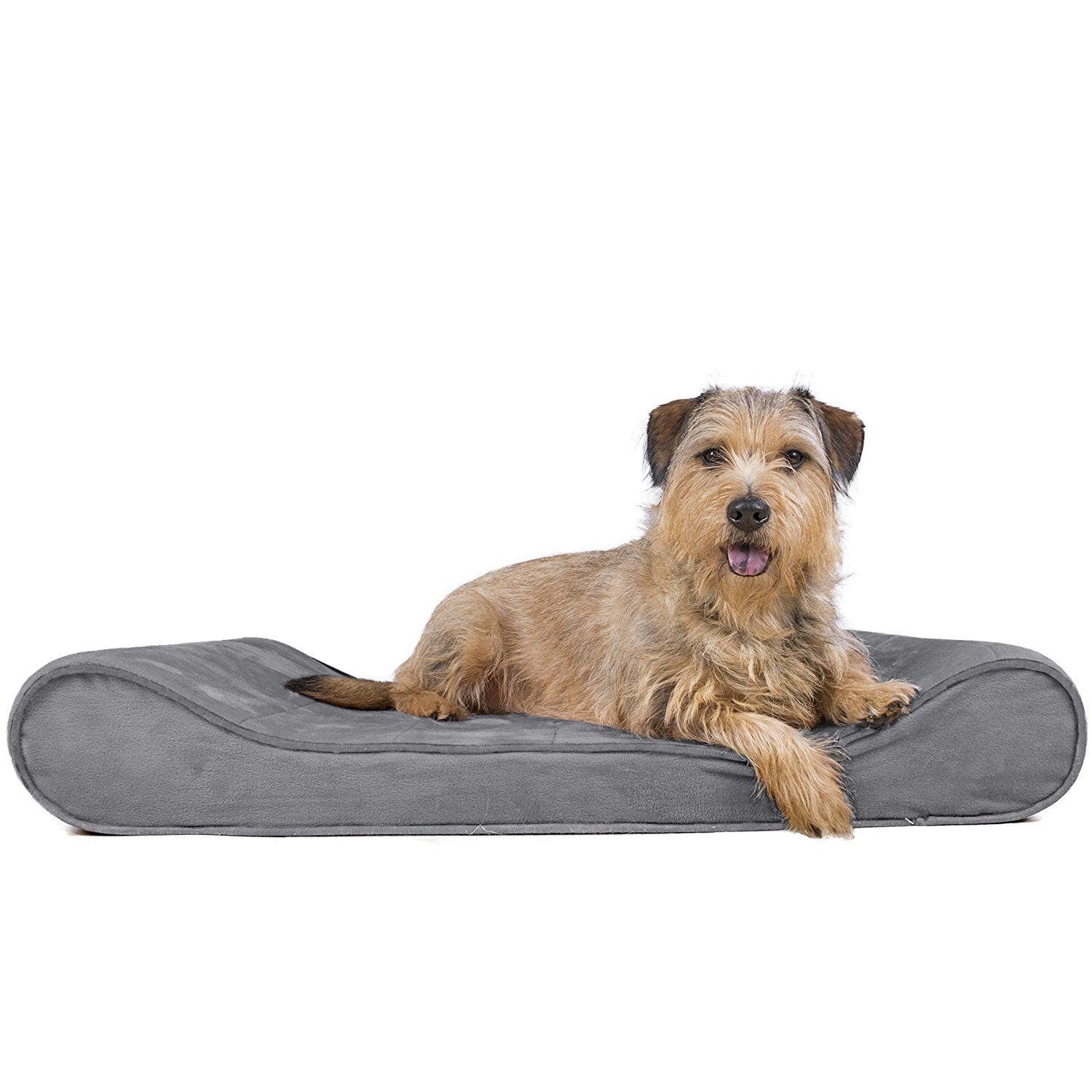 Furhaven Pet Small Microvelvet Luxe Lounger Orthopedic Pet