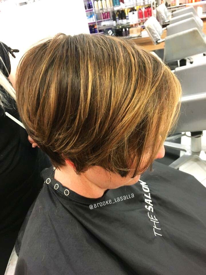 Balayage highlights on short hair