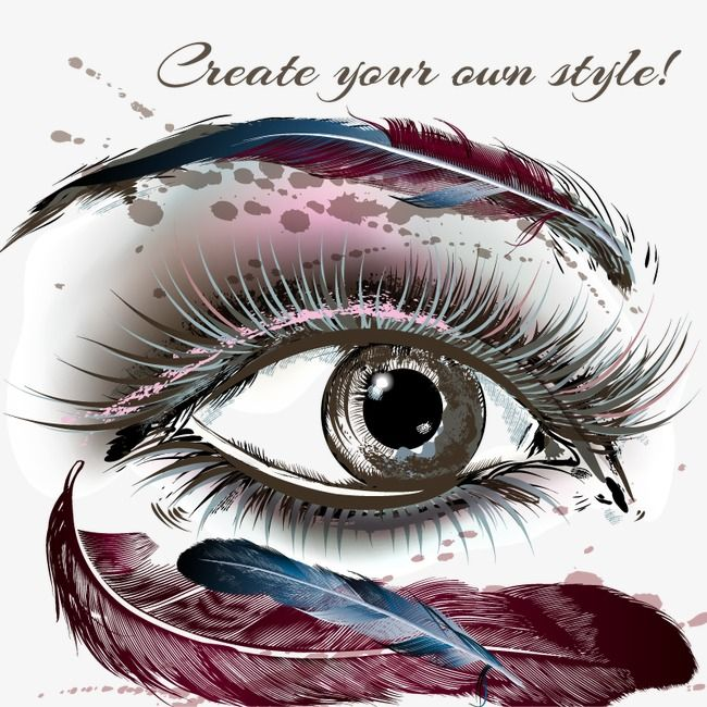 Hand Painted Eyes Vector Material Eye Eyelash Hand Painted Eyes