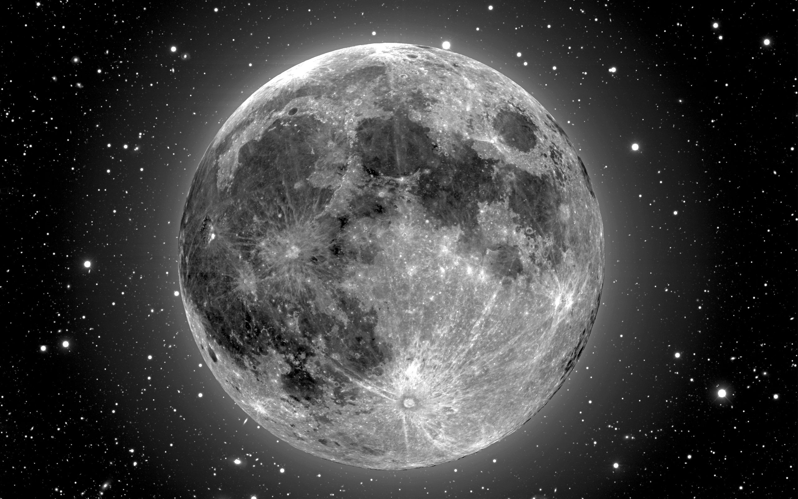 full moon black and white wallpaper hd 2560a—1600