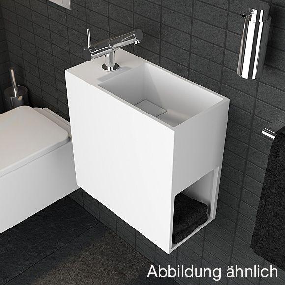 Cosmic Compact Waschbecken mit Ablagefach B 40 T 40 cm - 739120620