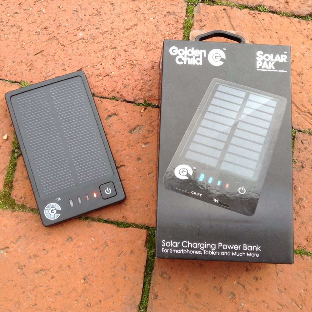 I really like this tiny little battery and solar panel