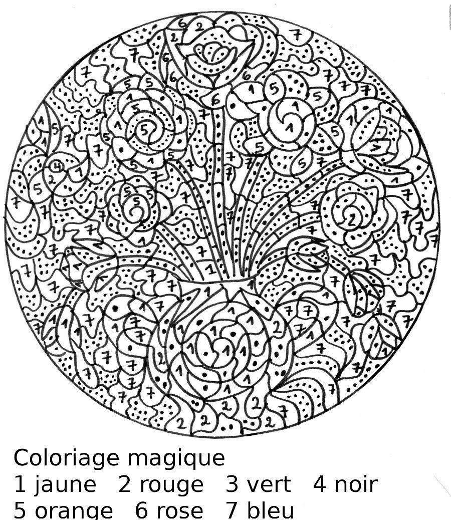 Coloriage Magique Printemps Cp.Maternelle Coloriages Magiques De Printemps Avec Des Fleurs