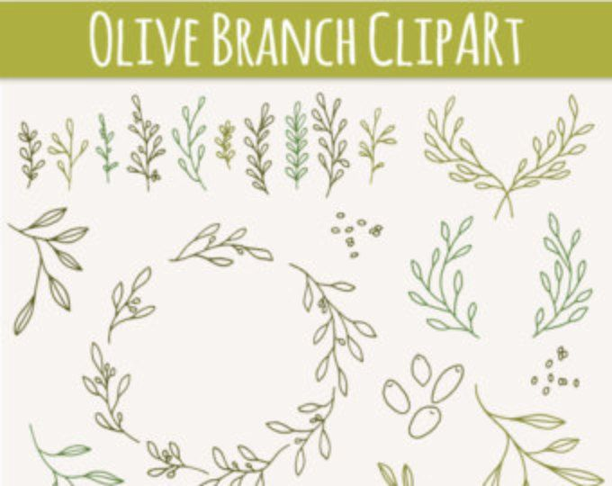 Download CLIP ART: Olive Branches & Sprigs // Photoshop Brushes ...