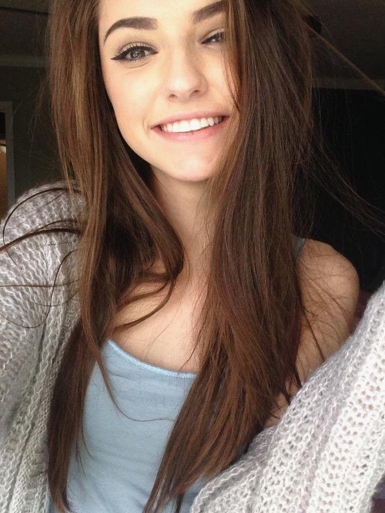 emo girl smiling