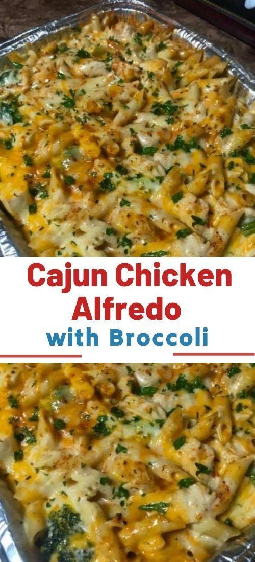 Cajun Huhn Alfredo mit Brokkoli -  #alfredo #brokkoli #cajun #Huhn #mit #cajundishes