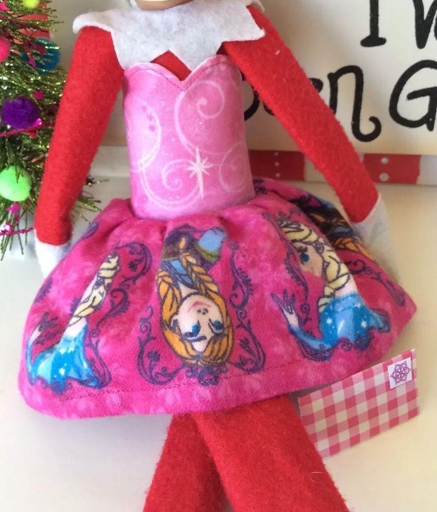 Elf Girl Handmade Pink Disneys Frozen B Dress Fits on The Shelf ...