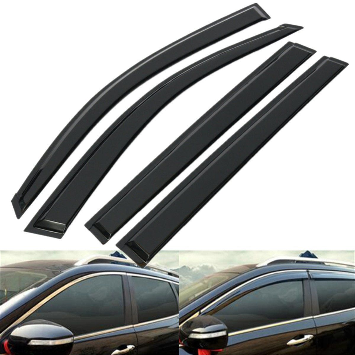 Black Sun Window Visor Rain Guard Set Fits For Toyota Highlander 2008-2012 7501faa9eb4