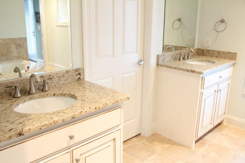 Giallo ornamental granite bathroom