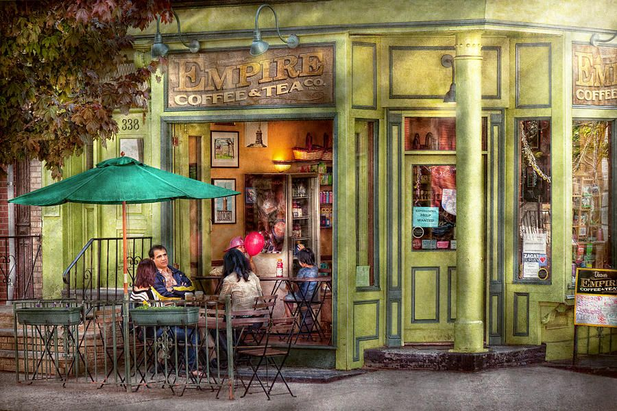 Cafe Hoboken Nj Empire Coffee And Tea By Mike Savad Hoboken Street Painting Cafe Art