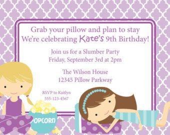 sleepover invitations printable