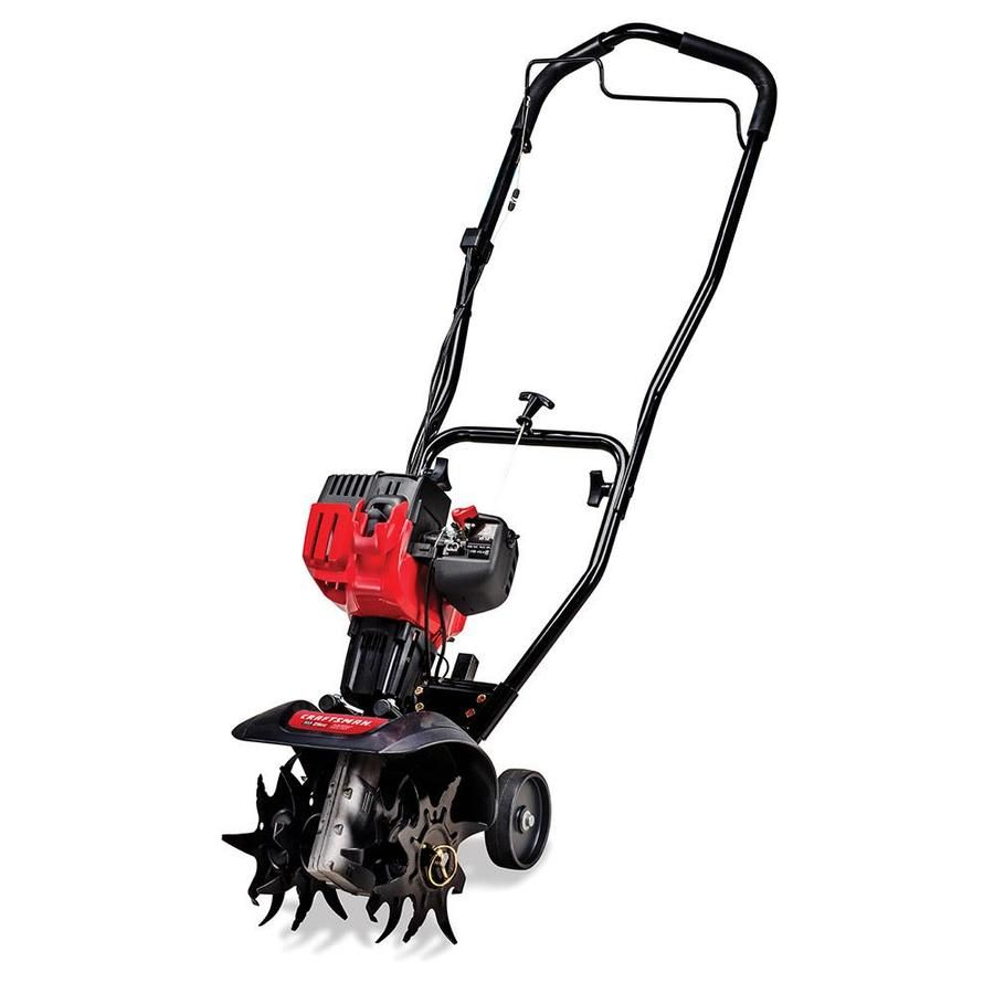 Craftsman 25 Cc 2 Cycle 9 In Forward Rotating Gas Cultivator Lowes Com Electric Tiller Mini Tiller Tiller