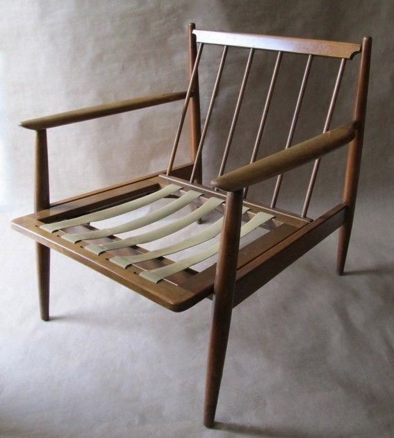 How To Repair The Webbing On A Vintage Mid Century Chair Danish Modern Lounge Chair Danish Modern Chairs Modern Lounge Chairs