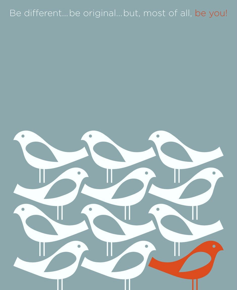 Scandinavian Designs Inspirational Quotes Mid Century Modern Retro Poster Birds Be Different Giclee P Scandinavian Art Retro Poster Scandinavian Folk Art