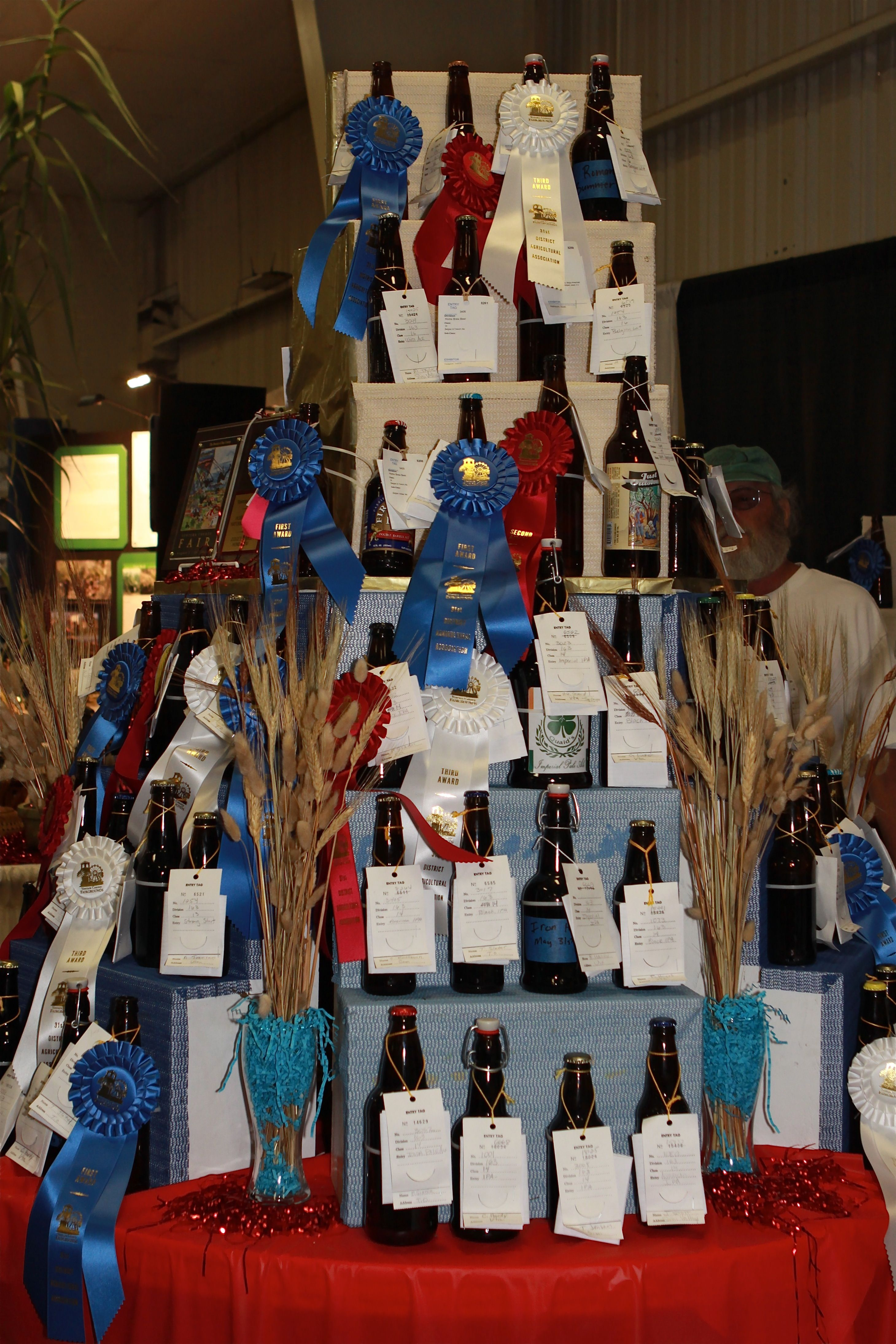 Winning Beer entries at the Ventura County Fair. County