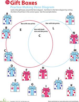 Create Venn Diagram Worksheets | Venn diagrams: Animals: 2-set ...